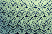 Backgrounds Metal Prints - Seamless Wave Pattern Metal Print by Hirokazu YAMANOUCHI