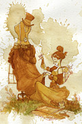 Victorian Painting Metal Prints - Seamstress Metal Print by Brian Kesinger