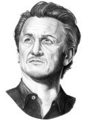 (murphy Elliott) Drawings - Sean Penn by Murphy Elliott