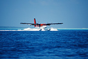 Passenger Plane Art - Seaplane Landing by Matthew Oldfield