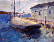 Brent Moody Paintings - Seaport by Brent Moody