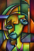 Cubist Framed Prints - Searching for Eve Framed Print by Michael Lang