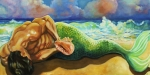 Merman Paintings - Searching for the Truth by Maryann Luera