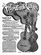 Early Drawings Posters - Sears Ad - Guitars 1902 Poster by Granger