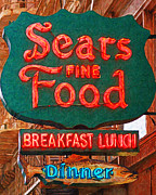 Signage Posters - Sears Fine Food Restaurant San Francisco Poster by Wingsdomain Art and Photography