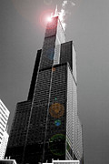 Sears Prints - Sears Tower 2 Print by BuffaloWorks Photography
