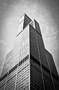 Architecture Metal Prints - Sears-Willis Tower Chicago Metal Print by Paul Velgos