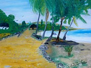 West Indies Paintings - Seascape 1 by Nicole Jean-Louis