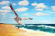 Surf Artist Paintings - Seascape 2 by Mike Paget