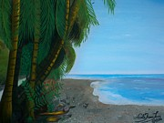 Haitian Paintings - Seascape 3 by Nicole Jean-Louis