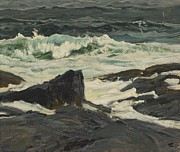 C19th Posters - Seascape Poster by Frederick Judd Waugh