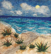 Felting Prints - Seascape Print by Gina Barakov