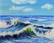 Canvas Paintings - SEASCAPE no.3 by Teresa Wegrzyn