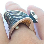 Sculptural Jewelry - Seascape Ring by Teresa Arana