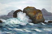 Judy Filarecki - Seascape Rocks and Surf