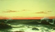 Seascape Sunset 1861 Print by Martin Johnson Heade