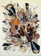 Caribbean Sea Mixed Media - Seashell Bouquet  No   2 by Karin Best