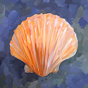 Seashell Art Metal Prints - SeaShell I Metal Print by Jai Johnson