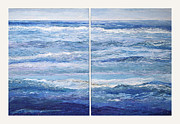 Seashore Diptych Print by Meg Black