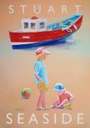 Warm Digital Art Originals - Seaside by Charles Stuart