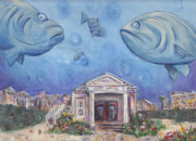 Seaside Florida Framed Prints - Seaside Grouper Framed Print by Robin Wiesneth