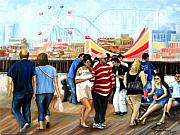 Amusements Posters - Seaside Heights Nj Poster by Leonardo Ruggieri