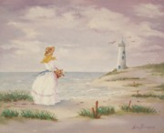 Cape Cod Lighthouse Paintings - Seaside by Kim Bumpus