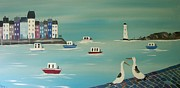 Calm Waters Originals - Seaside Lighhouse by Trudy Kepke