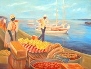 International Painting Originals - Seaside Market by Arnold Grace
