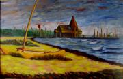 Joann Renner Art - Seaside Park NJ Yacht Club by Joann Renner