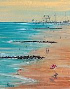 Boardwalk Paintings - Seaside by Pete Maier