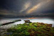 Long Exposure Art - Seaside Reef Sunset 10 by Larry Marshall