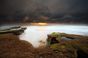 Long Exposure Art - Seaside Reef Sunset 11 by Larry Marshall
