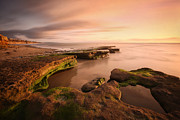 San Diego Photos - Seaside Reef Sunset by Larry Marshall