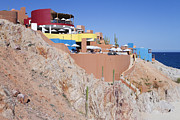 Baja California Sur Prints - Seaside Resort and Restaurant Print by Jeremy Woodhouse