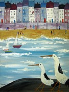 Walking Birds Originals - Seaside sailing by Trudy Kepke