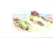 Seaside Shrubs Print by Thelma Harcum
