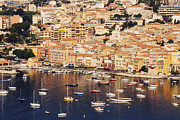 Condominium Prints - Seaside Town of Villefranche sur Mer in Southern France Print by Jeremy Woodhouse