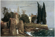 Arnold Framed Prints - Seaside Villa Framed Print by Arnold Bocklin