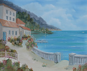 Villa Paintings - Seaside Villa by Scott Kugler