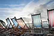 Beach Chairs Photo Framed Prints - Seasons End Framed Print by Robert Lacy