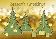 Season's Greetings Print by Arline Wagner