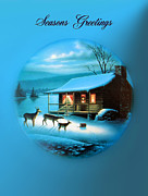 Log Cabin Photos - Seasons Greetings by Kristin Elmquist