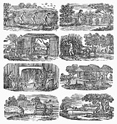 Almanac Prints - SEASONS ON A FARM, c1830 Print by Granger