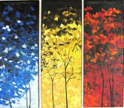 Pallet Knife Prints - Seasons  Print by Shilpi Singh