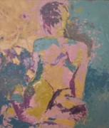 Abstracted Paintings - Seated Figure by Casey Heyen