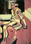 Nudes Originals - Seated Male Nude by Joanne Claxton