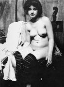 Nude Photograph Prints - SEATED NUDE, c1910 Print by Granger