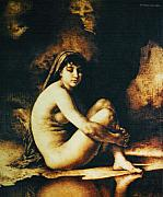 Realistic Art Pyrography - Seated Nude by Dino Muradian