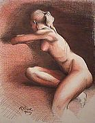 Kerry Burch - Seated Nude